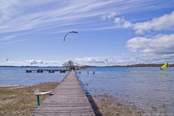 Kitesurfing vid Schweizerbadet