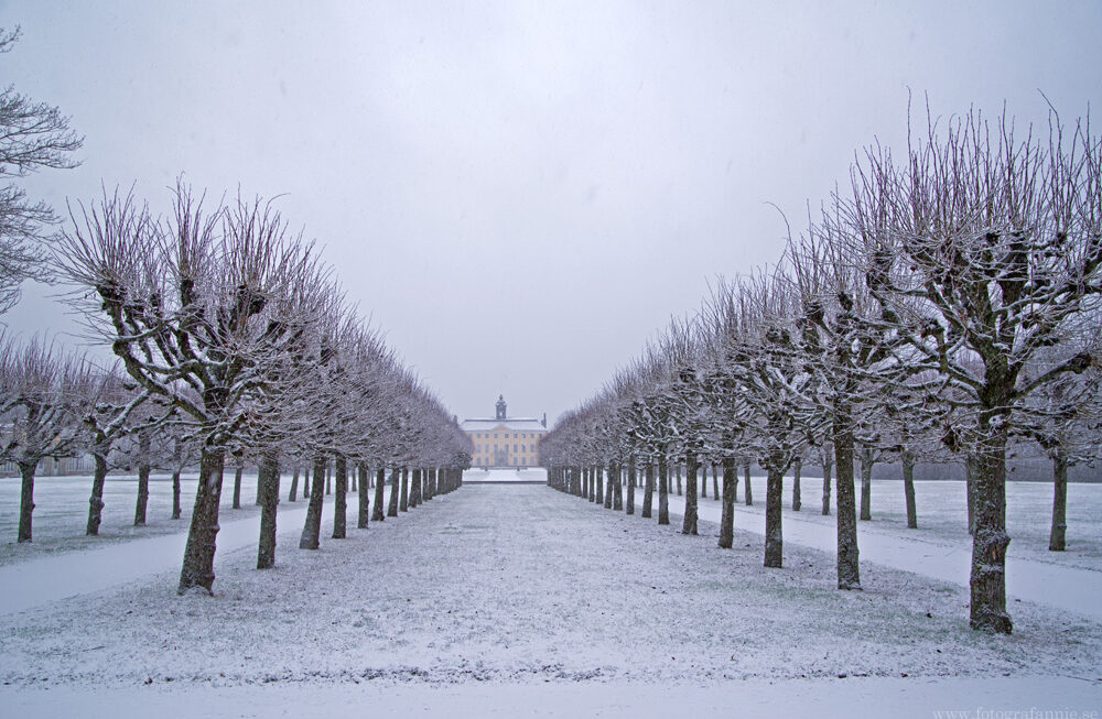 Snöigt vid slottet